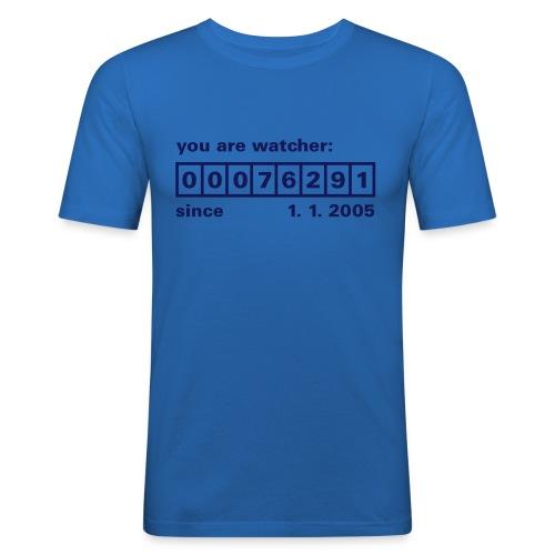 T-Shirt für Blickfänger - Männer Slim Fit T-Shirt