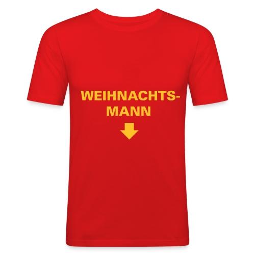 weihnachtsmann rot - Männer Slim Fit T-Shirt