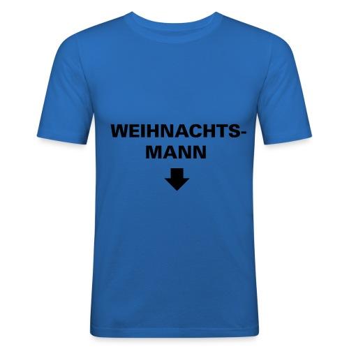 weihnachtsmann blau - Männer Slim Fit T-Shirt
