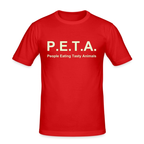 PETA - Männer Slim Fit T-Shirt