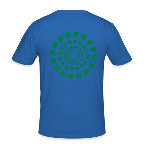 Blue-Green Espiral Man - Camiseta ajustada hombre