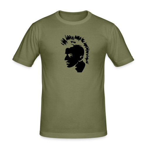 Mohawk head! - Slim Fit T-shirt herr