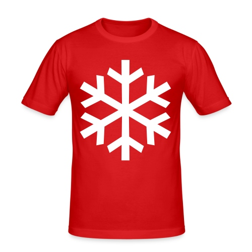 Schneeflocke - Männer Slim Fit T-Shirt