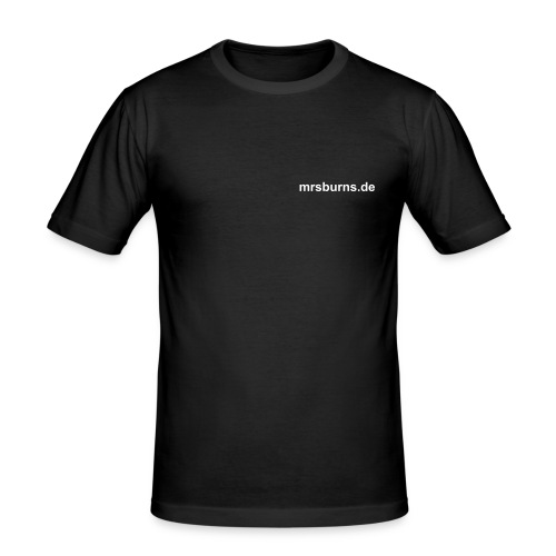 mrsburns.de Men's Slim Fit T-Shirt (schwarz) - Männer Slim Fit T-Shirt