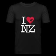 T-Shirts ~ Men's Slim Fit T-Shirt ~ I Love NZ