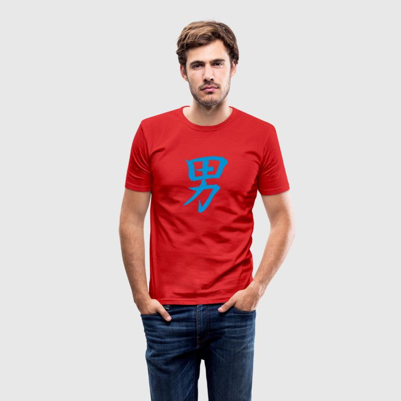 Wijnrood Chinees Man T-Shirts - slim fit T-shirt