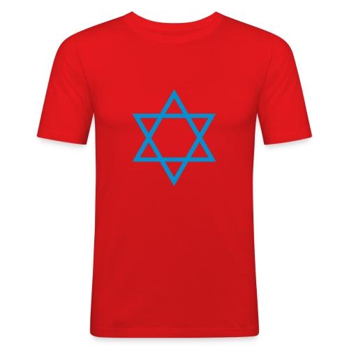 Jøde-korset - Slim Fit T-skjorte for menn