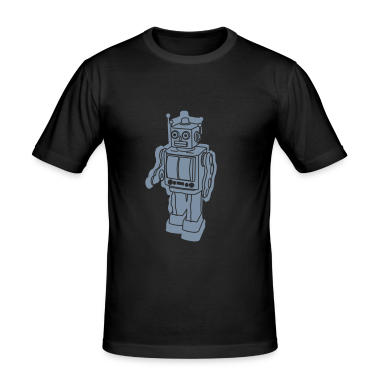 Black Robo-retro T-Shirts