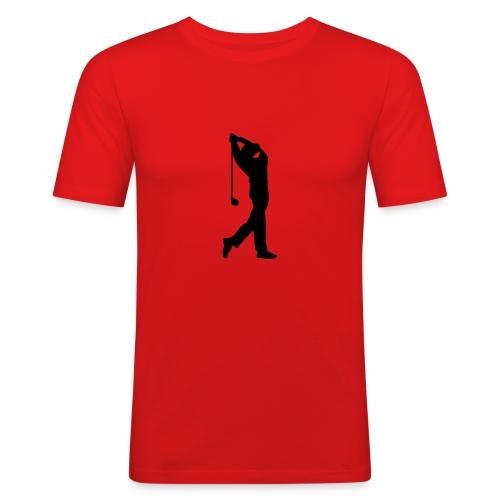 Golfspiller - Slim Fit T-skjorte for menn