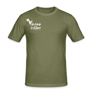 freerider T-Shirt - Männer Slim Fit T-Shirt