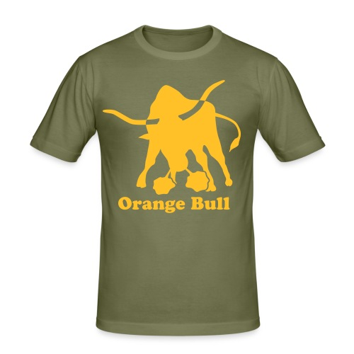 T-Shirt Orange Bull - Men's Slim Fit T-Shirt