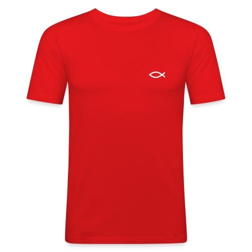 T-Shirt, Ich bin KIRCHE, hinten - Männer Slim Fit T-Shirt