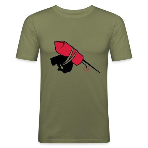 Slim Fit Rocket Cat Tee - Men's Slim Fit T-Shirt