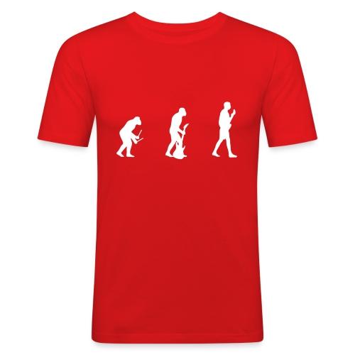 The Evolution of Rock Tee - Men's Slim Fit T-Shirt