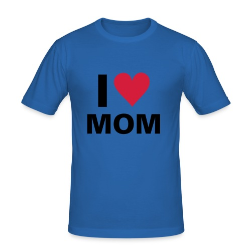 I LOVE MOM - Slim Fit T-skjorte for menn