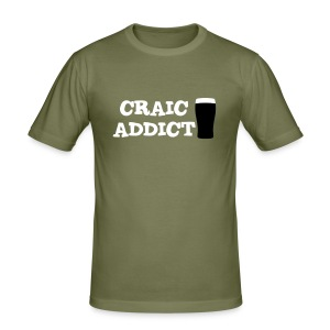 Craic Addict T-Shirt - Men's Slim Fit T-Shirt
