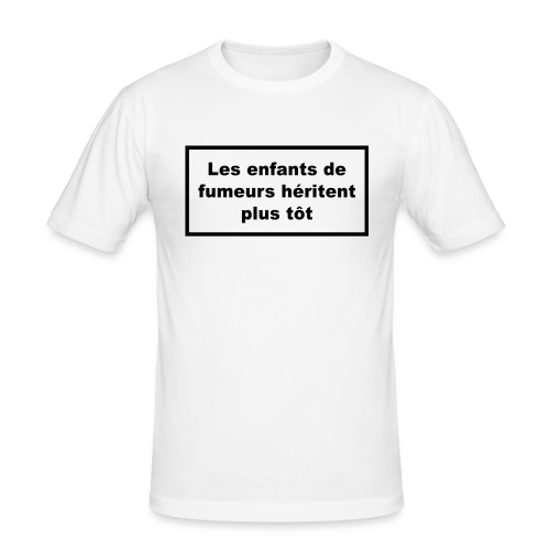 white smokers - T-shirt près du corps Homme