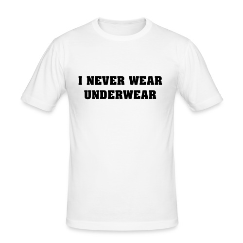 white underwear - T-shirt près du corps Homme