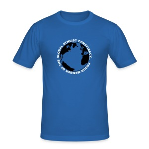 Global Atheist Conspiracy T-Shirt - Men's Slim Fit T-Shirt