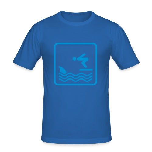 Bizzle Shark Attack - Men's Slim Fit T-Shirt