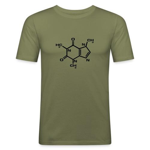 Adicto al café - Camiseta ajustada hombre