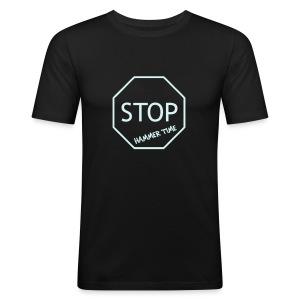 Hammer Time Clubbing Shirt (reflective) - Men's Slim Fit T-Shirt