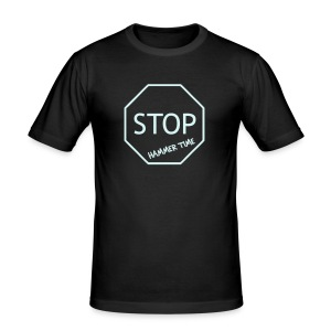 Hammer Time Clubbing Shirt (reflective) - Men's Slim Fit T-Shirt