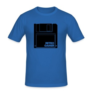 Retro T Shirt with a Funky Retro Gamer Design - Men's Slim Fit T-Shirt