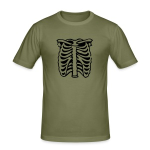 Retro T Shirt with a Funky Rib Design - Men's Slim Fit T-Shirt