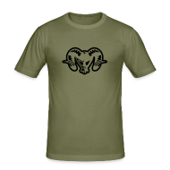 T-Shirts ~ Men's Slim Fit T-Shirt ~ Retro T Shirt with a Cool & Funky Printed Diabalo
