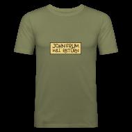 T-Shirts ~ Men's Slim Fit T-Shirt ~ John Frum Will Return! Shirt