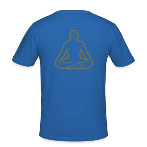 Buddha Blue - Men's Slim Fit T-Shirt