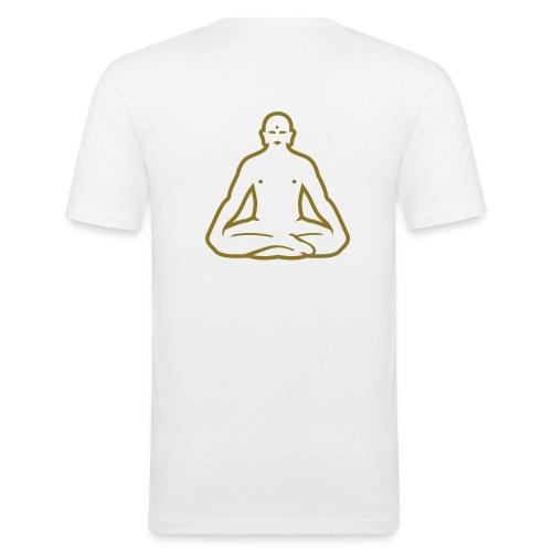 Buddha White - Men's Slim Fit T-Shirt