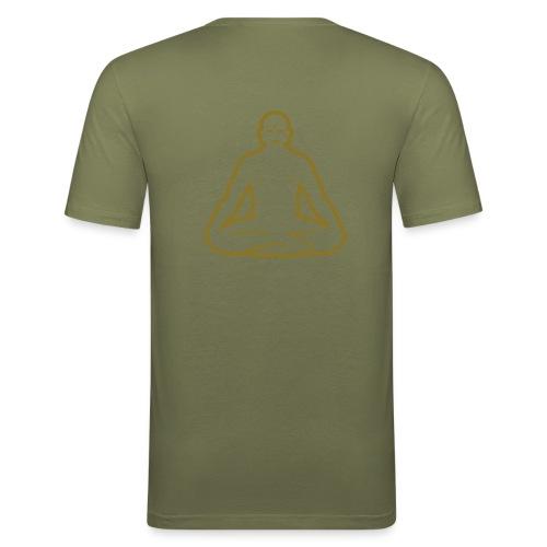 Buddha Grey - Men's Slim Fit T-Shirt