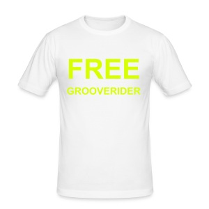 White Fitted T-Shirt (Neon Yellow Text) - Men's Slim Fit T-Shirt