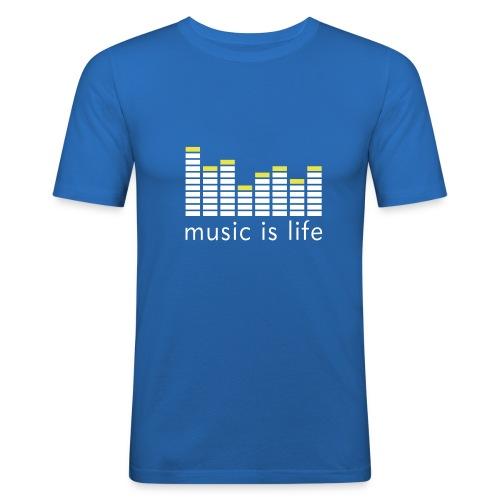 Music is Life, Live it - Men's Slim Fit T-Shirt