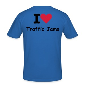 I Love Traffic Jams - Men's Slim Fit T-Shirt
