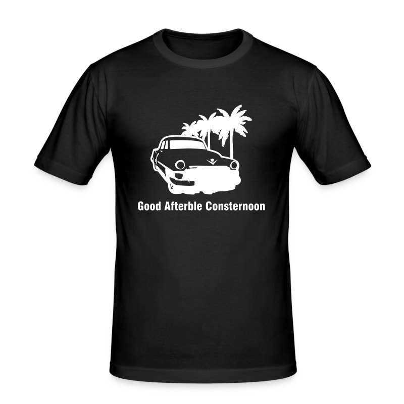 'Good Afterble Consternoon' Mens T-shirt - Men's Slim Fit T-Shirt
