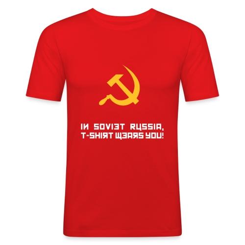 Soviet Russia Mens - Men's Slim Fit T-Shirt