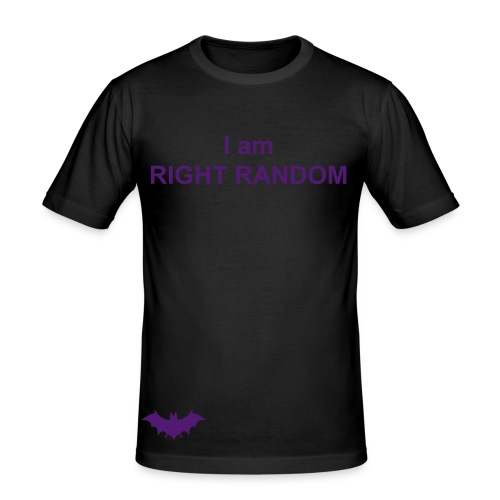 I am right random (balck & purple) - Men's Slim Fit T-Shirt