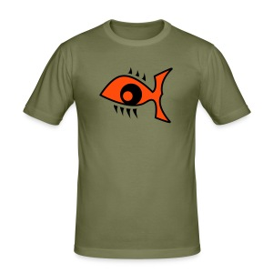 Eye Fish Shirt - Männer Slim Fit T-Shirt