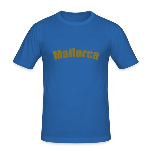 T-Shirt - Mollarca in Gold-Schrift - Männer Slim Fit T-Shirt