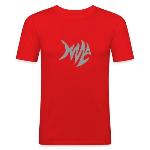 Zickzack Fisch T-Shirt - Männer Slim Fit T-Shirt