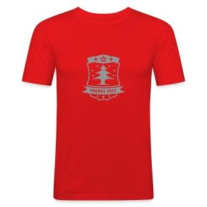 Frohes Fest 1 T-Shirt - Männer Slim Fit T-Shirt