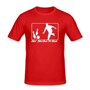 Bowlingshirt Sir Strike-A-Lot - Männer Slim Fit T-Shirt