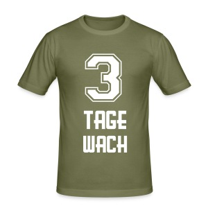 3 Tage Wach Frontprint 3 - Men's Slim Fit T-Shirt