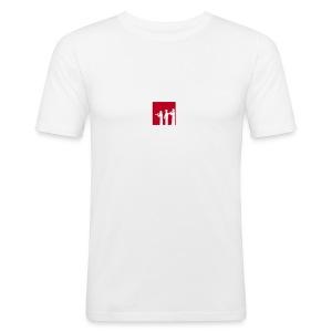 Musikschul T-Shirt (weiß) - Männer Slim Fit T-Shirt