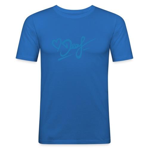 Love Deaf - Männer Slim Fit T-Shirt