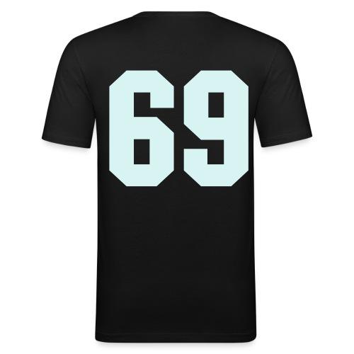 69-slim fit t paita - Miesten tyköistuva t-paita