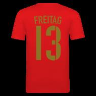 T-Shirts ~ Männer Slim Fit T-Shirt ~ FREITAG 13 (Away, Gold)